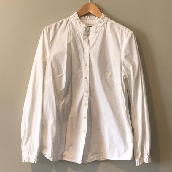 7af2a3d110f GAP Tops -  GAP  Ruffled Collar Button Down Shirt